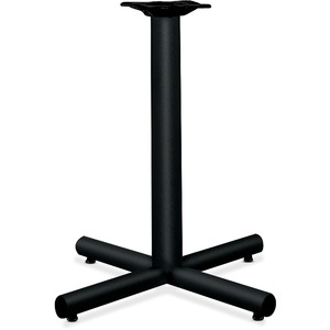 "HON Hospitality Table Base - 28"" - Steel, PVC - Black Base"