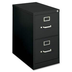"HON 410 Series H412PP Vertical File - 15"" x 22"" x 26"" - Steel - 2 Drawer(s) - Letter, Legal - Security Lock - Black"
