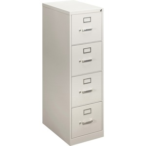 "HON 410 Series Vertical File - 15"" x 22"" x 49"" - Steel - 4 Drawer(s) - Letter - Security Lock - Gray"