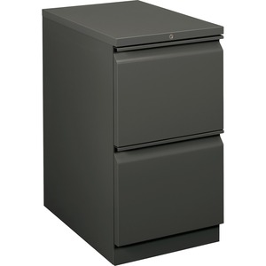 HON Flagship 18823RS Mobile Pedestal File - 2 x File Drawer(s) - Security Lock, Ball-bearing Suspension - Charcoal