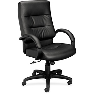 Basyx by HON VL691 Executive Plush Leather High-Back Desk Chair BSXVL691SP11