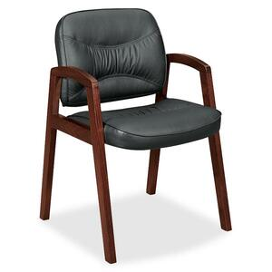 Basyx by HON VL803 Leather Guest Side Chair BSXVL803NST11