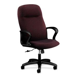 HON Gamut 2071 Executive High-Back Chair Steel Black Frame27.5&quot; x 36&quot; x 48&quot; - Acrylic Claret, Polyester Claret Seat