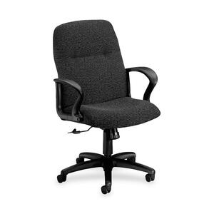 HON Gamut 2072 Managerial Mid-Back Chair Black Frame27.5&quot; x 36&quot; x 44&quot; - Acrylic Iron, Polyester Iron Seat