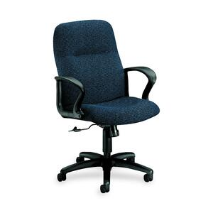 HON Gamut 2072 Managerial Mid-Back Chair Black Frame27.5&quot; x 36&quot; x 44&quot; - Acrylic Navy Blue, Polyester Navy Blue Seat