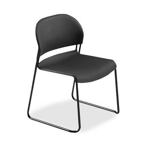 HON GuestStacker 4031 Armless Stackable Guest Chair Steel Black Frame21&quot; x 21.5&quot; x 31&quot; - Polymer Black Seat
