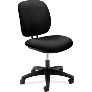 "HON ComforTask 5901 Task Swivel Chair Steel Black Frame23"" x 29"" x 38"" - Olefin Black Seat"