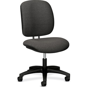 "HON ComforTask 5901 Task Swivel Chair Steel Black Frame23"" x 29"" x 38"" - Olefin Dark Gray Seat"