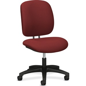 "HON ComforTask 5901 Task Swivel Chair Steel Black Frame23"" x 29"" x 38"" - Olefin Burgundy Seat"