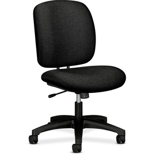 "HON ComforTask 5902 Task Swivel Chair Steel Black Frame23"" x 28"" x 30"" - Olefin Black Seat"