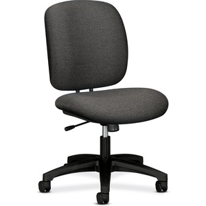 "HON ComforTask 5902 Task Swivel Chair Steel Black Frame23"" x 28"" x 30"" - Olefin Gray Seat"