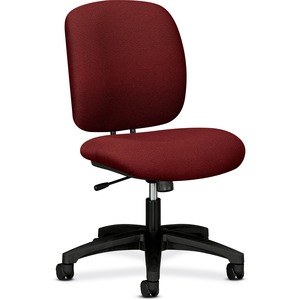 "HON ComforTask 5902 Task Swivel Chair Steel Black Frame23"" x 28"" x 30"" - Olefin Burgundy Seat"