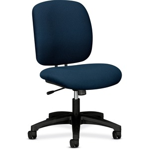 "HON ComforTask 5902 Task Swivel Chair Steel Black Frame23"" x 28"" x 30"" - Olefin Blue Seat"