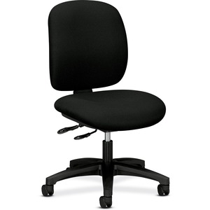 "HON ComforTask 5903 Multi-Task Chair Steel Black Frame24"" x 34"" x 40.5"" - Olefin Black Seat"