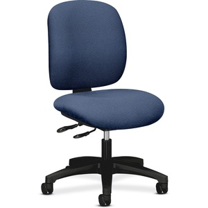 "HON ComforTask 5903 Multi-Task Chair Steel Black Frame24"" x 34"" x 40.5"" - Olefin Blue Seat"