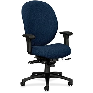 HON Unanimous 7608 Executive High-Back Chair With Seat Glide HON7608BW90T