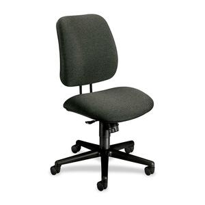 "HON 7702 Task Chair Steel Black Frame26"" x 30.5"" x 42.5"" - Olefin Gray Seat"