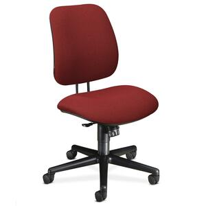 "HON 7702 Task Chair Steel Black Frame26"" x 30.5"" x 42.5"" - Olefin Burgundy Seat"