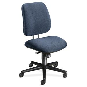 "HON 7702 Task Chair Black Frame26"" x 30.5"" x 42.5"" - Olefin Blue Seat"