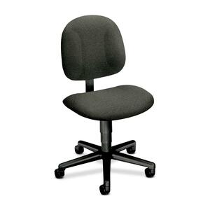 "HON Every-Day 7901 Pneumatic Task Chair Black Frame25"" x 27"" x 38.5"" - Olefin Gray Seat"