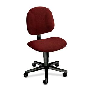 "HON Every-Day 7901 Pneumatic Task Chair Black Frame25"" x 27"" x 38.5"" - Olefin Burgundy Seat"