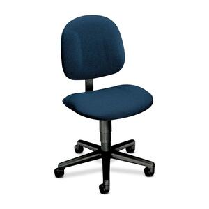 "HON Every-Day 7901 Pneumatic Task Chair Black Frame25"" x 27"" x 38.5"" - Olefin Blue Seat"
