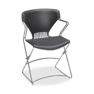 "HON Olson Flex Stacker FLEX02 Chair With Arms Steel Chrome Frame21"" x 22.25"" x 31"" - Polymer Lava Seat"