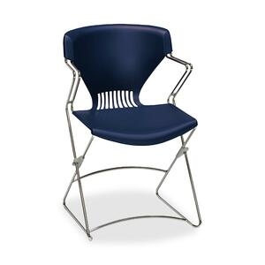 "HON Olson Flex Stacker FLEX02 Chair With Arms Steel Chrome Frame21"" x 22.25"" x 31"" - Polymer Garnet Seat"