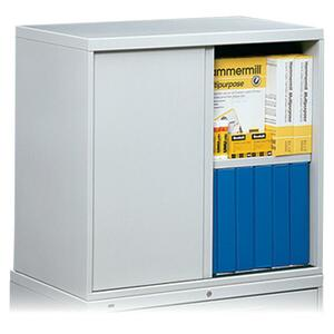 "HON Overfile Storage Cabinet - 28"" x 18"" x 30"" - Steel - 2 x Shelf(ves) - Light Gray"