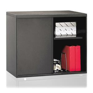 "HON Overfile Storage Cabinet - 28"" x 18"" x 30"" - Steel - 2 x Shelf(ves) - Charcoal"