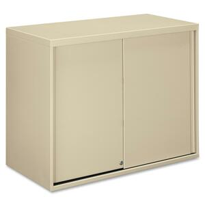 "HON Overfile Storage Cabinets - 36"" x 18"" x 28"" - Steel - 2 x Shelf(ves) - Security Lock - Putty"