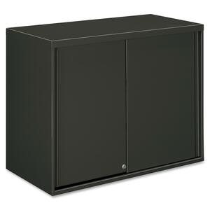 "HON Overfile Storage Cabinets - 36"" x 18"" x 28"" - Steel - 2 x Shelf(ves) - Security Lock - Charcoal"