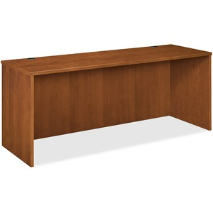 "Basyx BW Series Credenza Shell - 72"" Width x 24"" Depth x 29"" Height - Beaded Edge - Wood - Bourbon Cherry"
