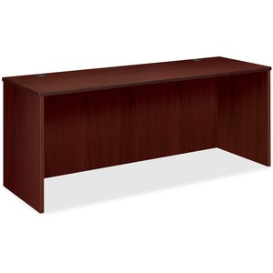 "Basyx BW Series Credenza Shell - 72"" Width x 24"" Depth x 29"" Height - Beaded Edge - Wood - Mahogany"
