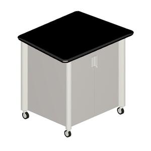 "HON Tercero Mobile Audio Visual Cabinet - 39.5"" x 29.5"" x 36.5"" - Gray, Titanium"