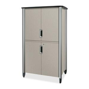 "HON Tercero Collection Video Console - 46"" x 33"" x 78"" - Gray, Titanium"