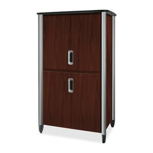 "HON Tercero Collection Video Console - 46"" x 33"" x 78"" - Mahogany, Titanium"