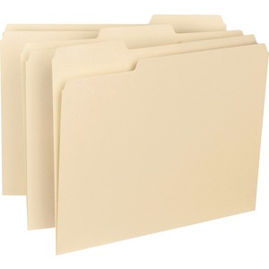 "Smead Manila Interior Folder - Letter - 8.5"" x 11"" - 1/3 Tab Cut on Assorted Position - 0.75"" Expansion - 100 / Box - 11pt. - Manila"