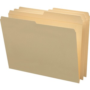 "Smead Top Tab File Folder - Letter - 8.5"" x 11"" - 1/2 Tab Cut on Assorted Position - 0.75"" Expansion - 100 / Box - 11pt. - Manila"