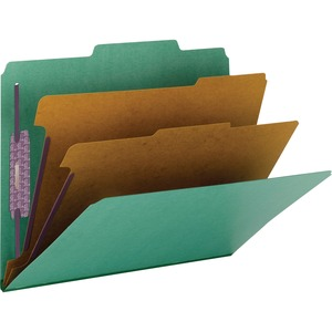 14033 Green Colored Pressboard Classification Folders with SafeS
