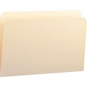 "Smead Manila File Folder - Legal - 8.5"" x 14"" - Straight Tab Cut - 0.75"" Expansion - 100 / Box - 11pt. - Manila"