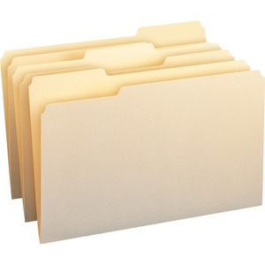 "Smead Top Tab File Folder - Legal - 8.5"" x 14"" - 1/3 Tab Cut on Assorted Position - 0.75"" Expansion - 100 / Box - 11pt. - Manila"