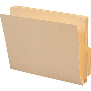 "Smead Shelf-Master End Tab Folder - Letter - 8.5"" x 11"" - 1/3 Tab Cut on Bottom - 0.75"" Expansion - 100 / Box - 11pt. - Manila"