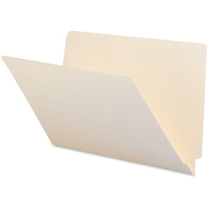 "Smead End Tab File Folder - 9.5"" x 15.25"" - Straight Tab Cut - 0.75"" Expansion - 100 / Box - 11pt. - Manila"