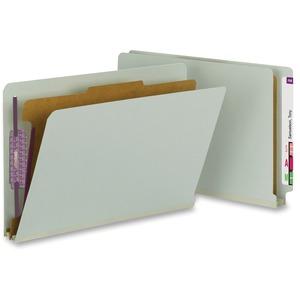 29800 Gray/Green End Tab Pressboard Classification Folders with