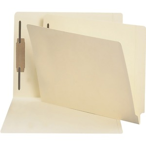 "Smead End Tab File Folder - Letter - 8.5"" x 11"" - Straight Tab Cut - 0.75"" Expansion - 1 Fastener - 50 / Box - 11pt. - Manila"