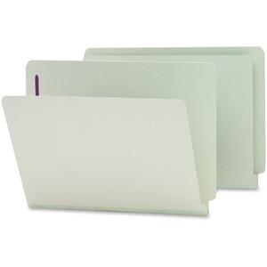 34705 Gray/Green End Tab Pressboard Fastener File Folders with S