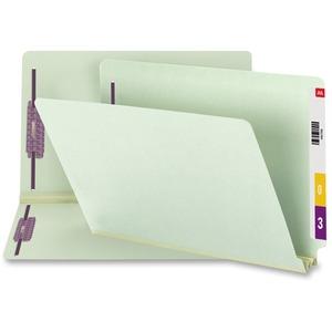37715 Gray/Green End Tab Pressboard Fastener File Folders with S