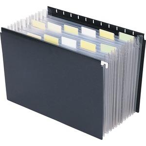 65125 Black Poly Hanging Expanding File