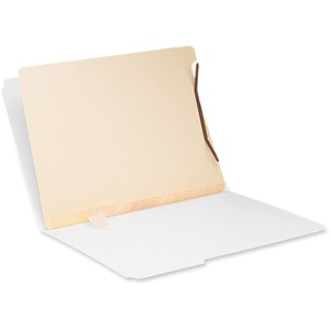Smead Self-Adhesive Folder Dividers With Fasteners - Letter - 8.5&quot; x 11&quot; - 1&quot; Capacity - 100 / Box - 11pt. - Manila